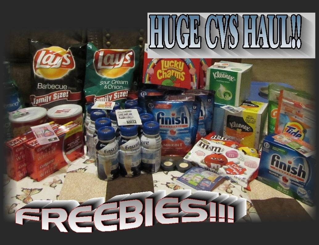 cvs coupon haul week of 1  29  17  huge haul with freebies